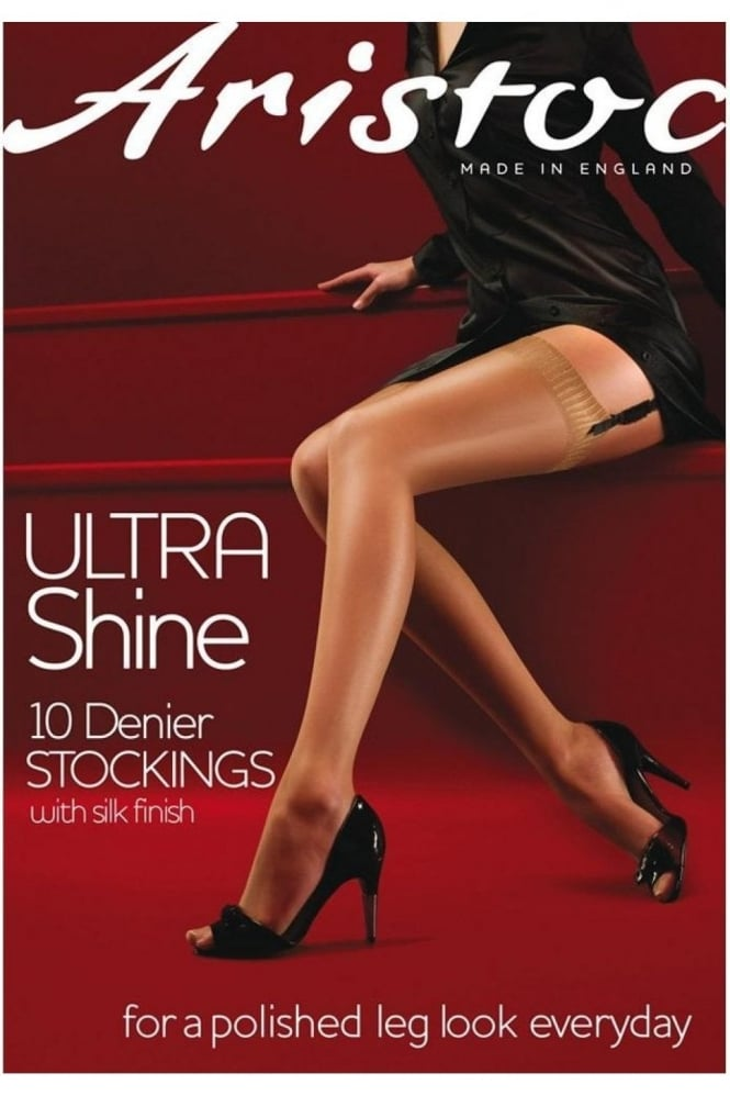 Aristoc Ultra Shine 10 Denier Plain Top Stockings