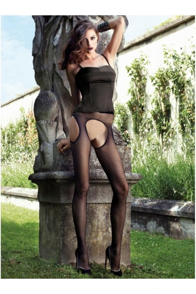 Trasparenze Abbie Strip Panty Fishnet Tights