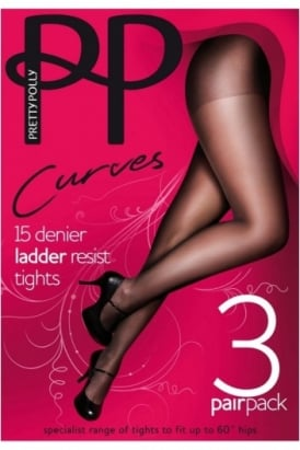 Pretty Polly  XXtra Tights Ladder Resist (3 Pair Pack)