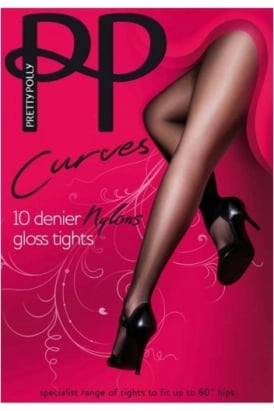 Pretty Polly Curves 10 Denier Nylons in Plus Sizes