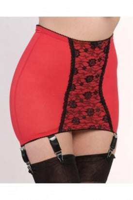 Nylon Dreams Longline Power Mesh 6 Strap Girdle