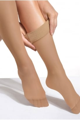 Extra Wide Comfort Top Opaque Knee Highs