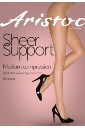 Sheer Support Medium Compression Tights