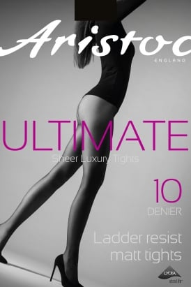 Ultimate 10 Denier Ladder Resistant Sheer Matt Tights AQE9