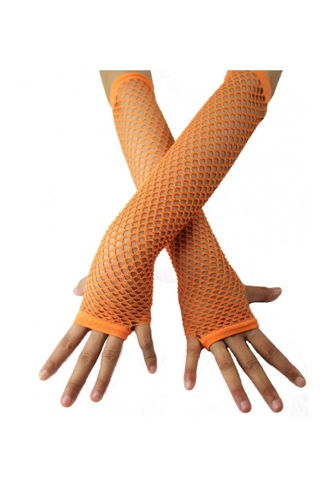 C & N Accessories Long Fingerless Fishnet Gloves