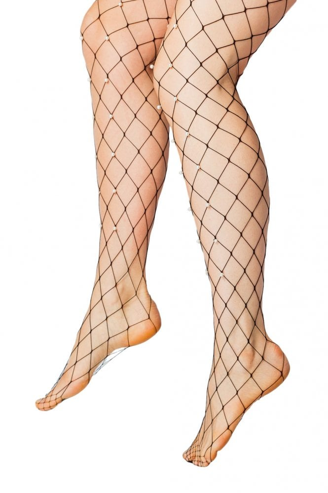 C & N Accessories Net Beaded Tights 503