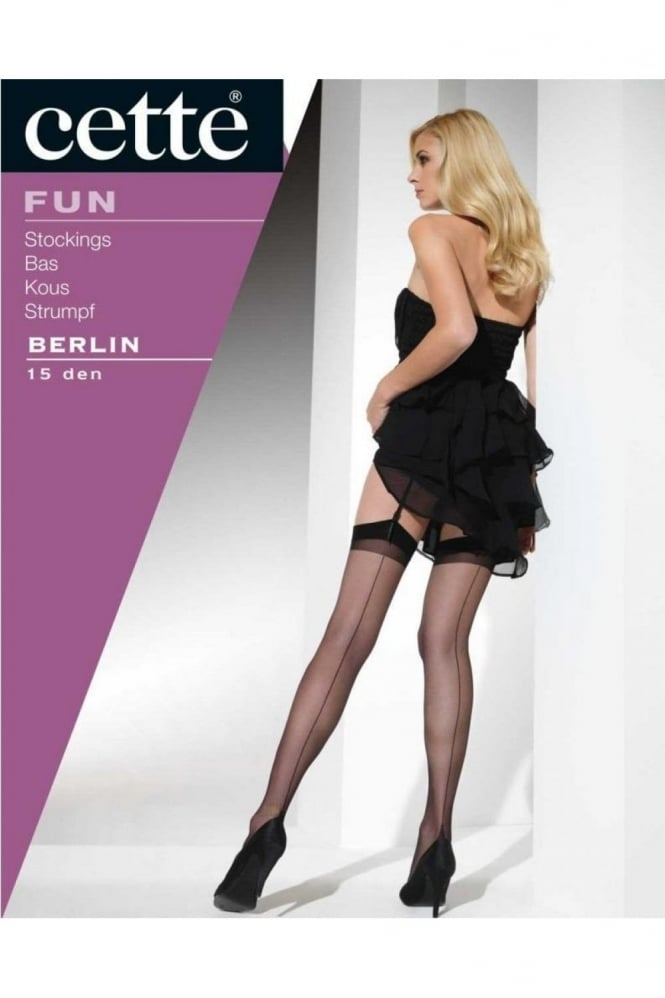 Cette Berlin 15 Denier Seamed Stocking