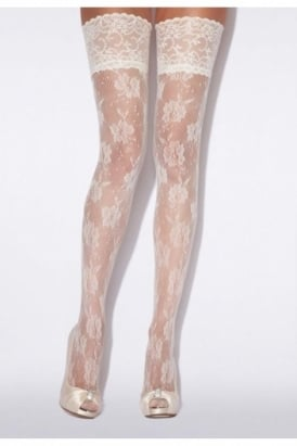 Bridal Floral Net Hold Ups