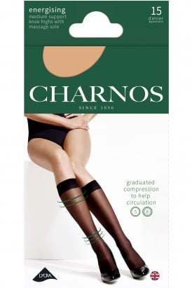 Medium Energising 15 Denier Support Knee Highs