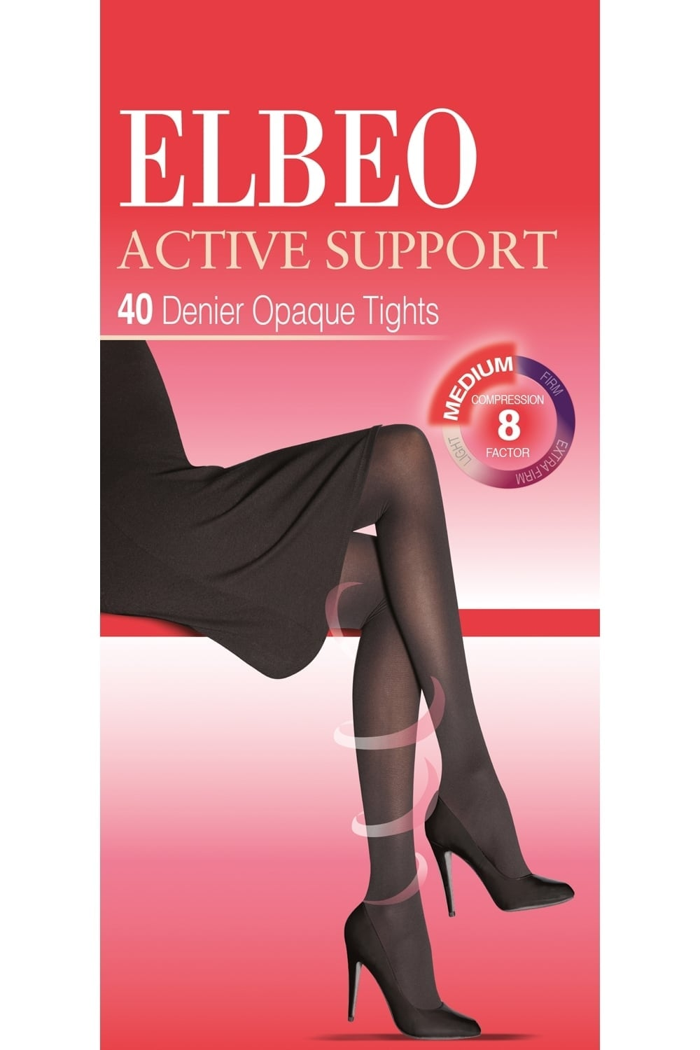 422ce558e3faf Active Support Medium Compression 40 Denier Tights by Elbeo
