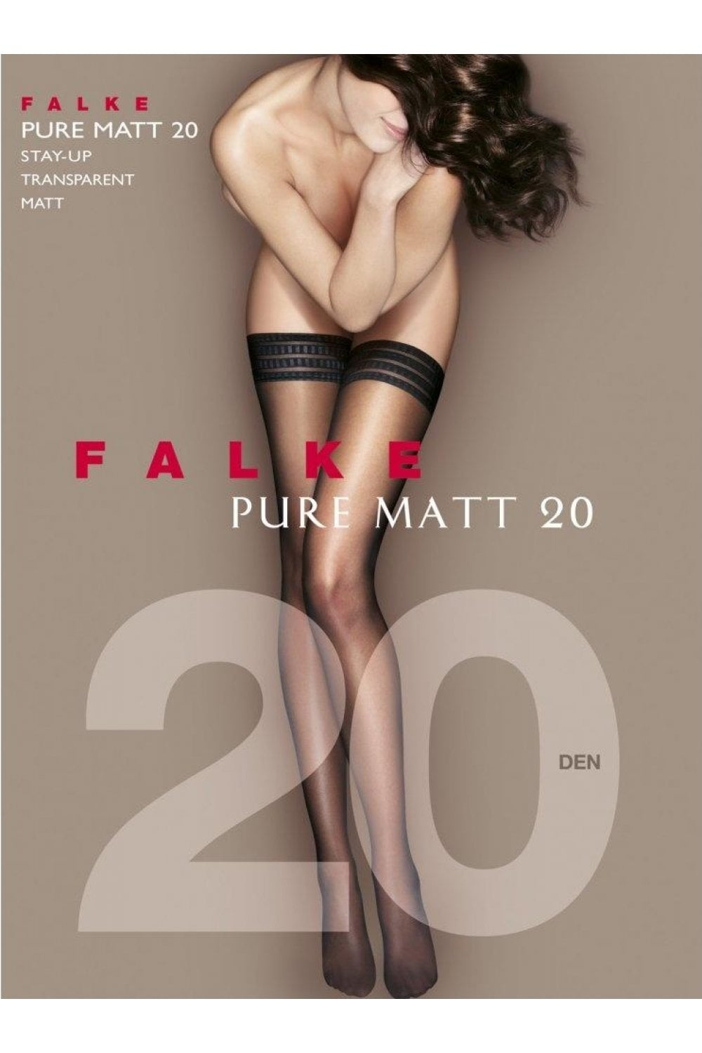 bc92d409c Falke Pure Matt 20 Denier Transparent Hold Ups