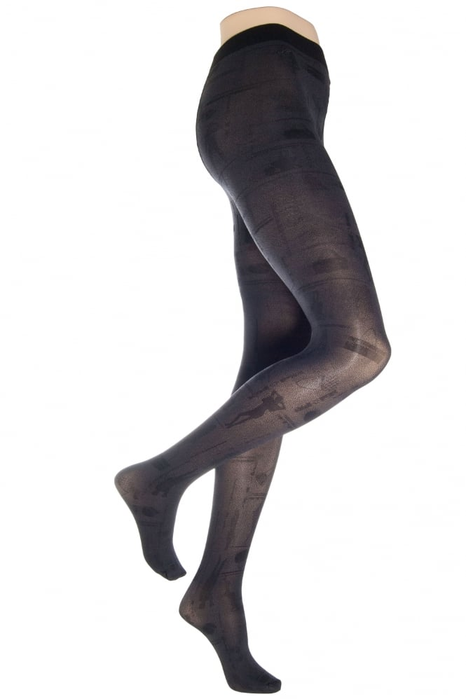 Flirt Shopper Design Opaque Tights