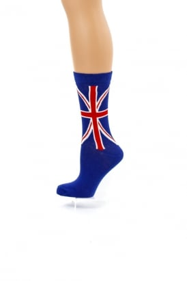 Union Jack Flag Ankle Socks