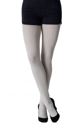Cable Pattern Tights