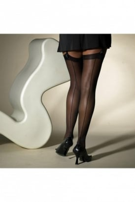 Cuban Heel and Seam Stocking