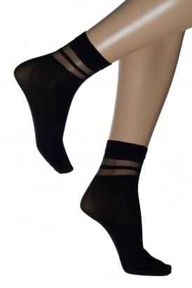 Double Stripe Ankle High Sock 1702