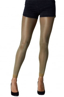 Metallic Footless Tights
