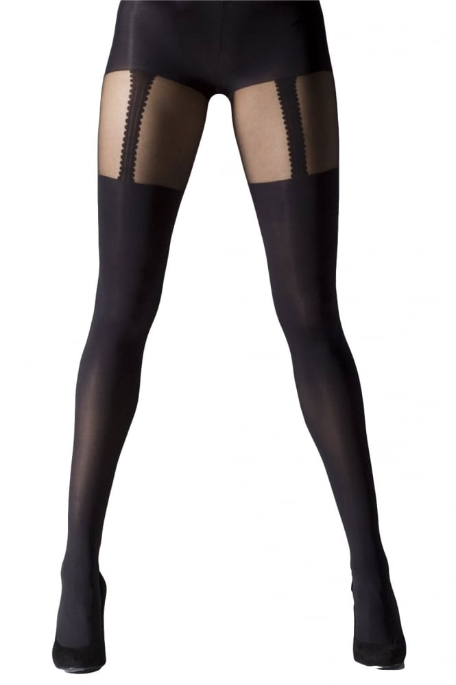 Gipsy Mock Suspender Tights XL Size