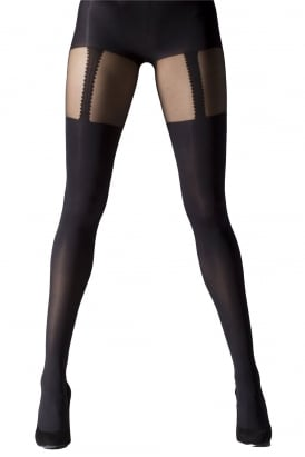 Mock Suspender Tights XL Size