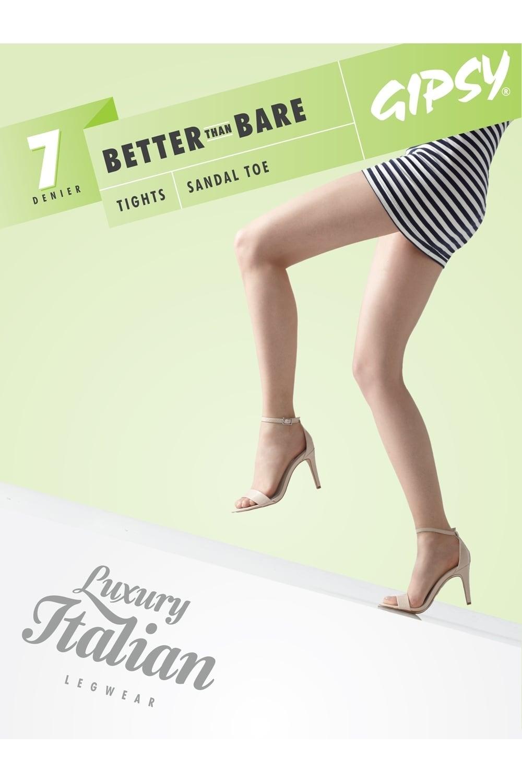 7f24e793b12c5 Gipsy New 7 Denier Better Than Bare Sandal Toe Tights