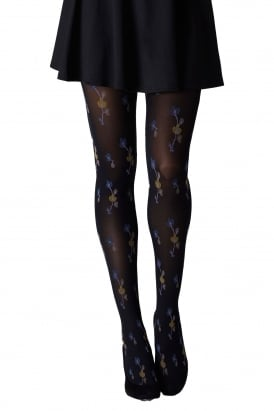 Oriental Flower Tights