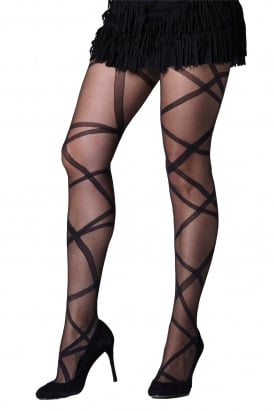 Ribbon Wrap Tights