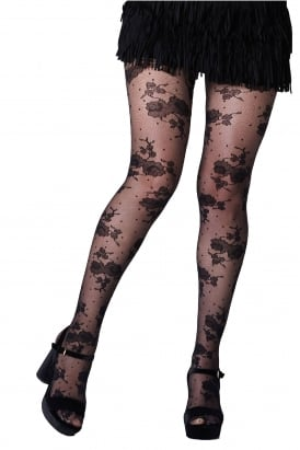 Roses and Dots Tights