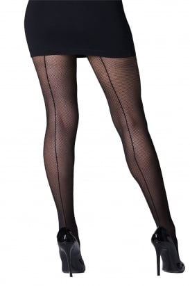 Shadow Fishnet Seamed Tights