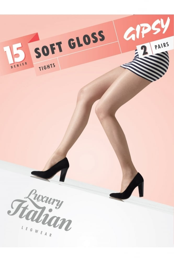 Gipsy Soft Gloss Tights 2 Pair Pack