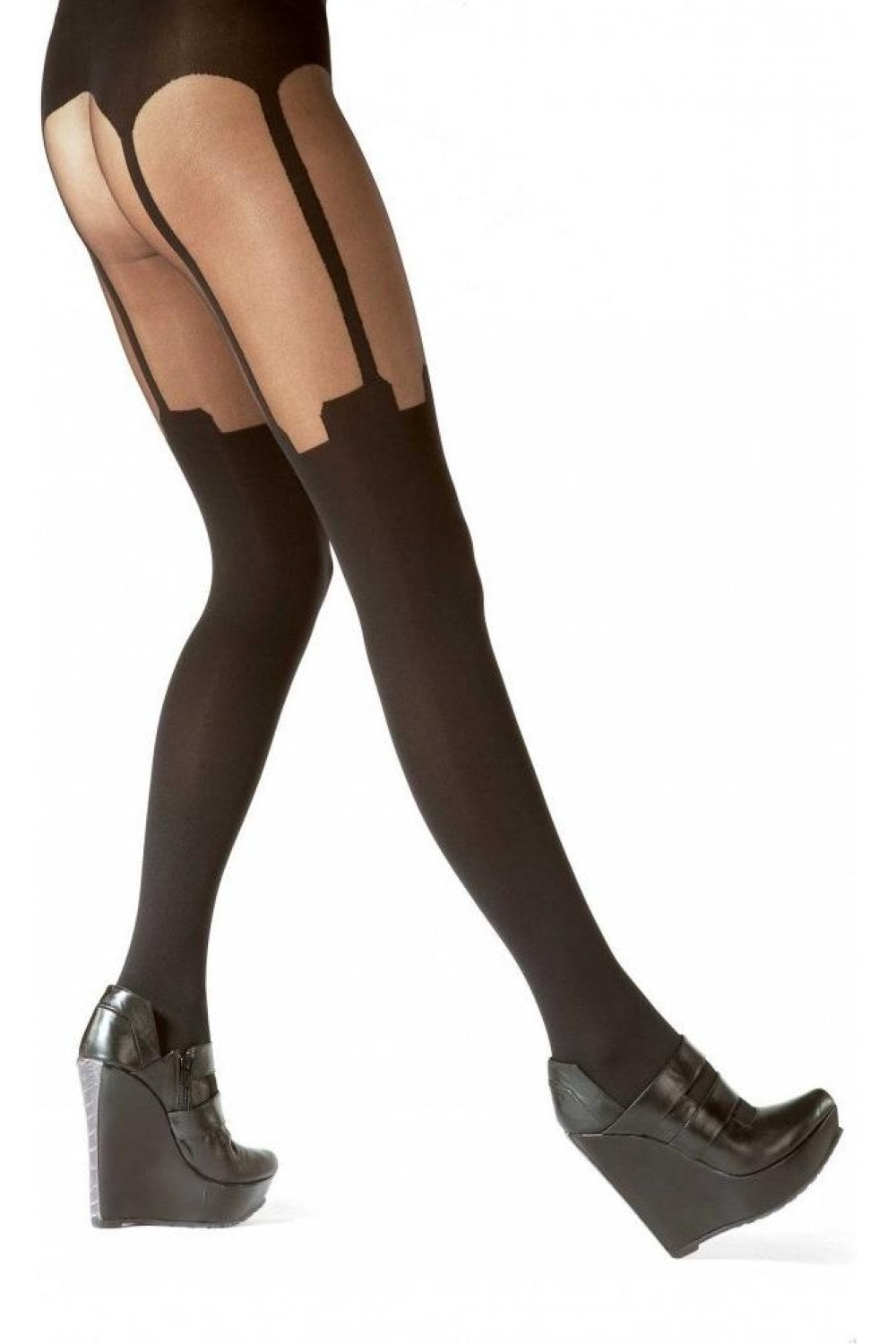 how to put on suspenders tights