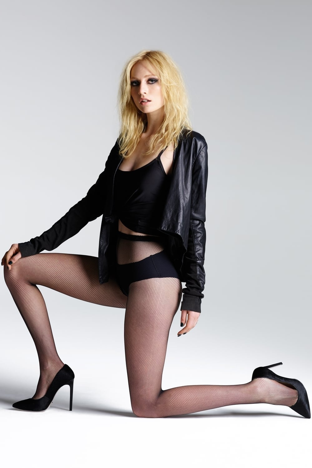 51c38208a3198 Vintage Legs Micronet Tights by Jonathan Aston
