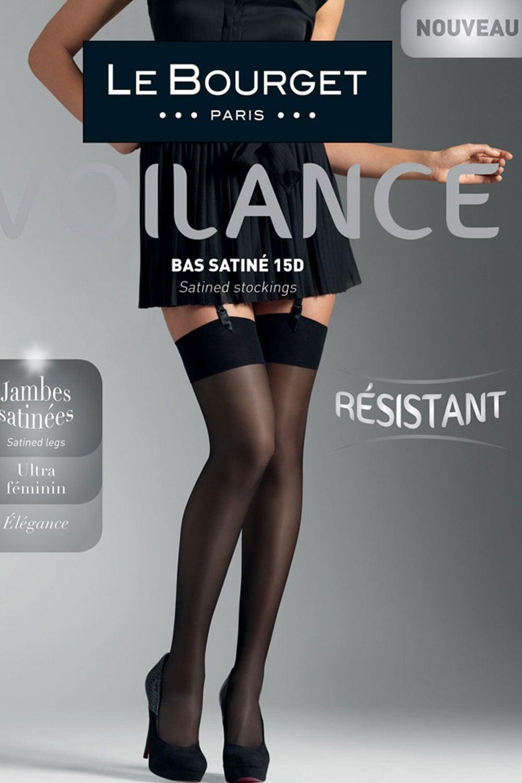 eb6974d6067 Le Bourget Voilance Satine 15 Denier Stockings