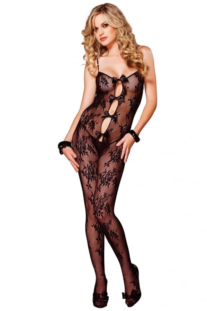Leg Avenue Lace Bow Bodystocking