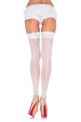 Lace Top Seamed Stockings
