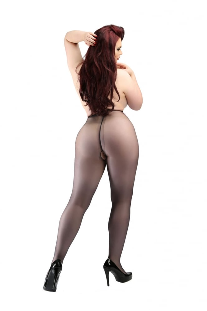 Miss Naughty Sheer Crotchless Tights