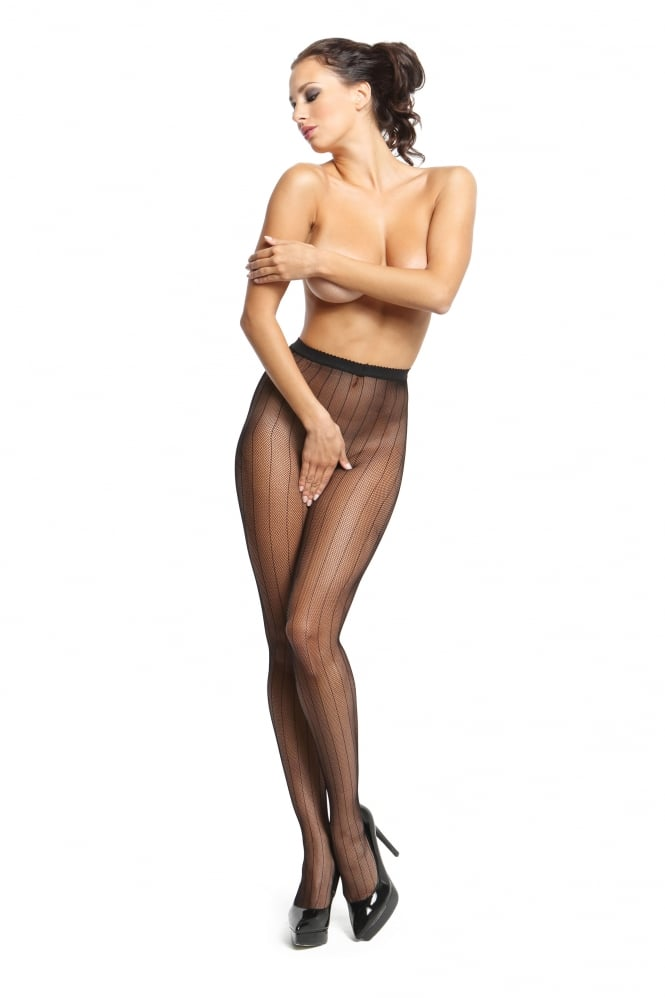 Miss O Fishnet Open Crotch Design Tights P615