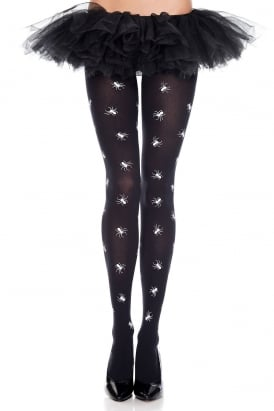 Spider Print Tights