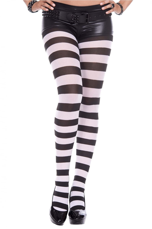 51135b8d8e463 Striped Opaque Tights by Music Legs