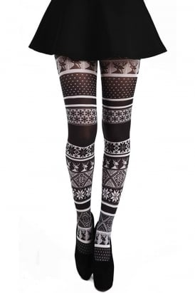 Fairisle Print Tights