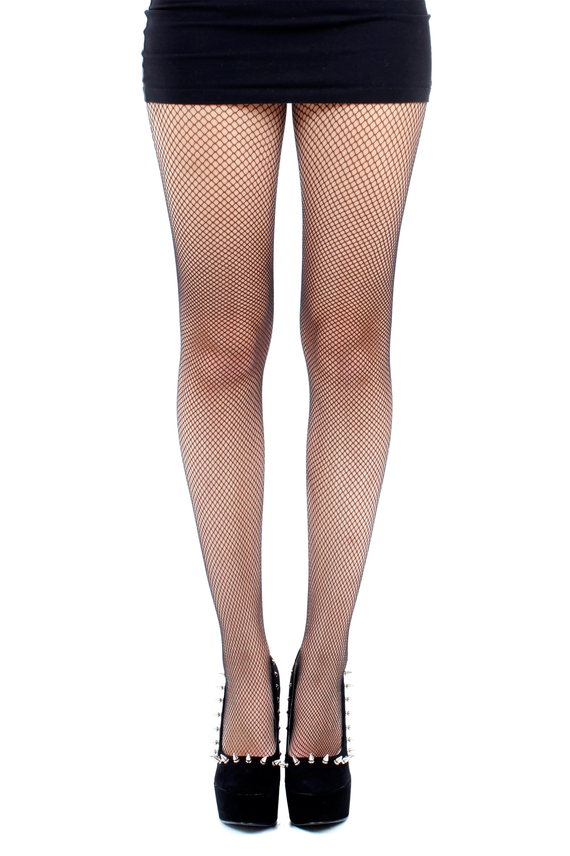 Pamela Mann Fishnet seamed tights Black//Black size 16-18 retro pin up plus size