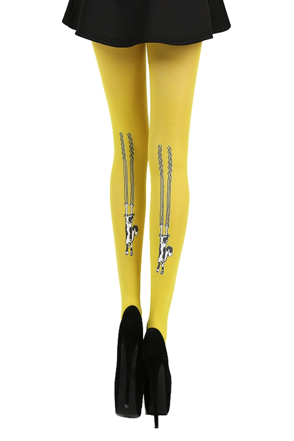 770fde977 Pamela Mann Flocked Climbing Cats Tights