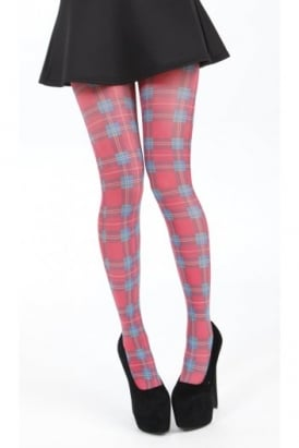 Jackson Plaid Printed Tights
