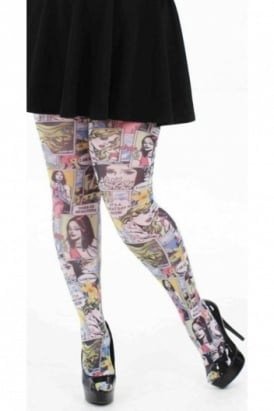 Paradise Island Printed Tights Plus Size