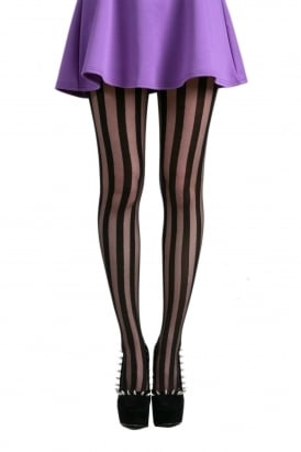 Sheer Stripe Tights