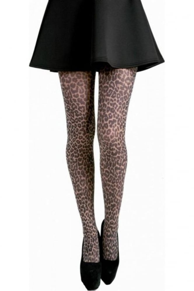 Pamela Mann Small Leopard Print Tights