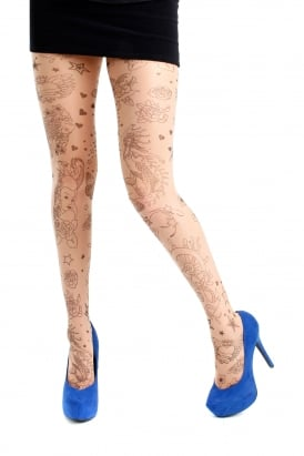 Tattoo Heart Tights