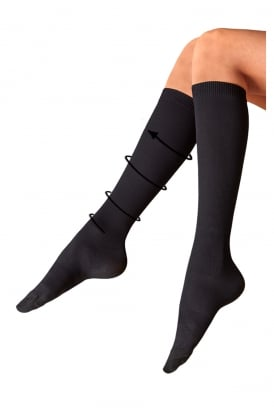 Ribbed Compression Sock
