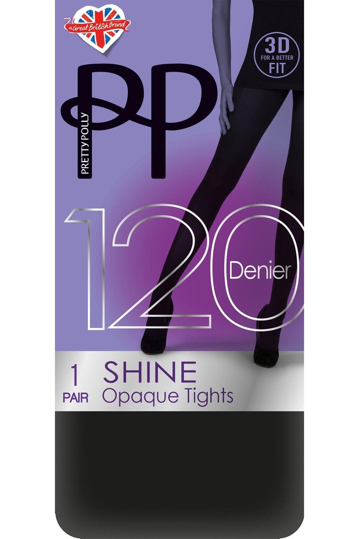 ef7c03057b700 Pretty Polly 120 Denier 3D Shine Opaque Tights