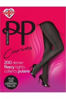 200 Denier Fleecy Opaque Plus Size Tights