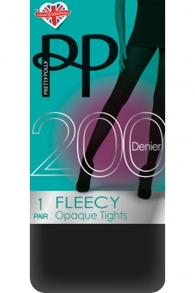 200 Denier Fleecy Opaque Tights